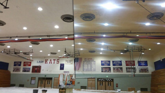 before and after commercial ceiling